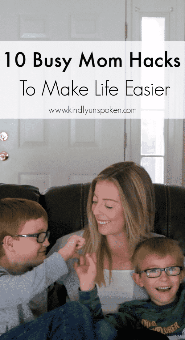 Being a mom can sometimes be tough, messy, and chaotic. Make life easier with my tried and true 10 Busy Mom Hacks to help you get organized, stress less, and spend more time enjoying your family! #ad #NestlePureLifeBoxTops #CollectiveBias