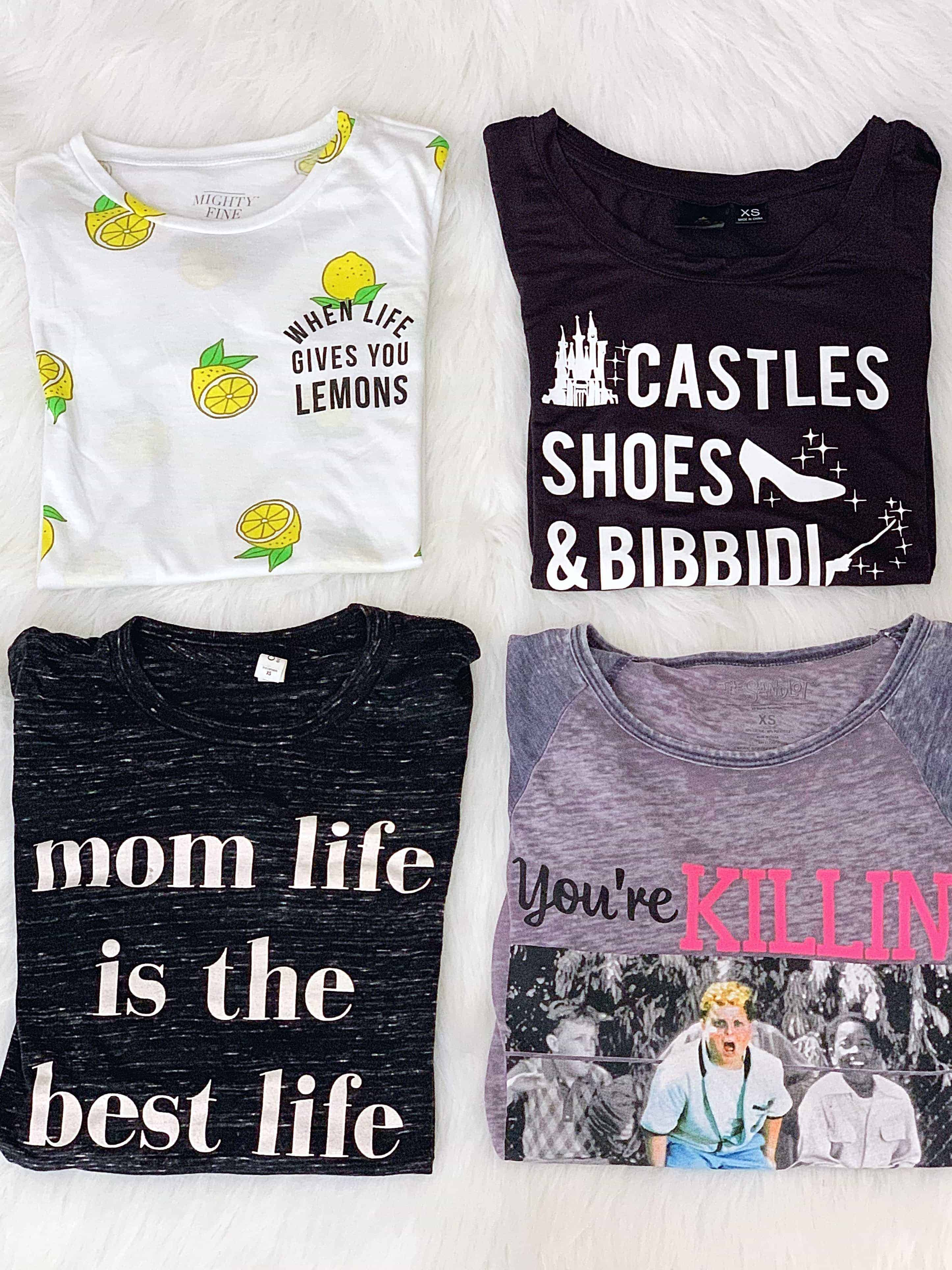 """Love affordable graphic tees for spring/summer? Check out this roundup of cute women's graphic tees including this adorable """"Be Kind"""" t-shirt and other cute, vintage, funny, and inspirational tees. I'm also sharing where to buy graphic tees for the BEST prices! #graphictees #springfashion #bekind"""
