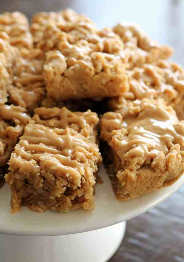 Triple Peanut Butter Oatmeal Bars