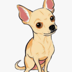 Ftestickers Clipart Dog Puppy Chihuahua Cute Hd Png Download Kindpng