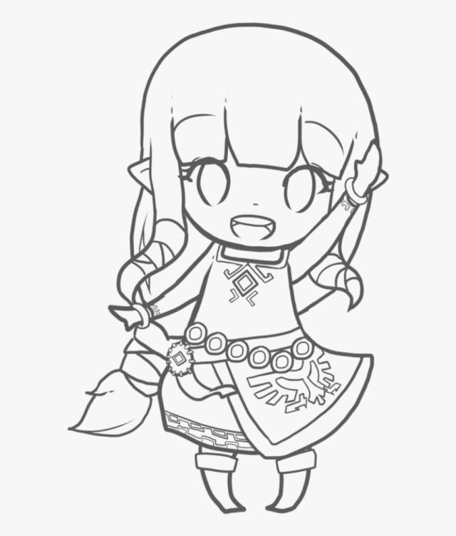 Zelda Coloring Pages Chibi - Legend Of Zelda Skyward Sword Drawing