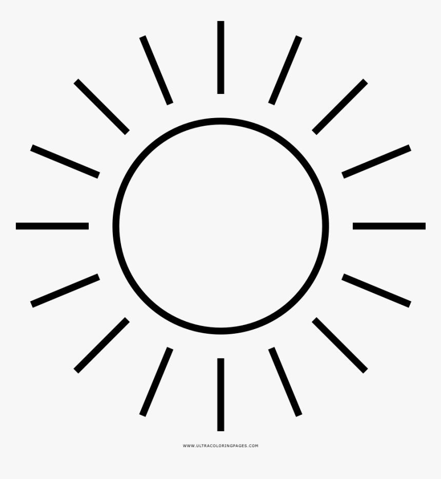 Sun Coloring Page Circle Hd Png Download Kindpng