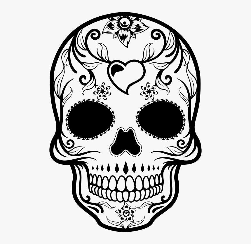 Day Of The Dead Sugar Skull Day Of The Dead Skull Drawing Hd Png Download Kindpng