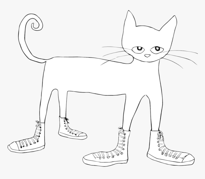 Pete The Cat Funny Coloring Page Clip Art Library Transparent Kitty Cats Coloring Pages Hd Png Download Kindpng