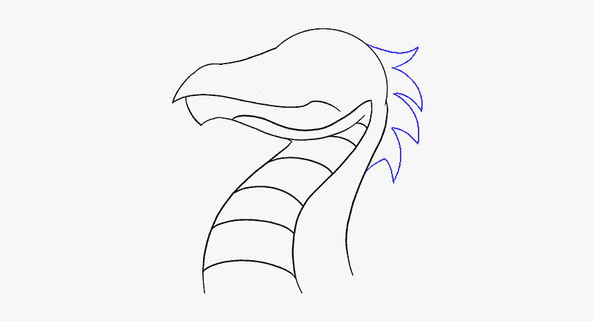 How To Draw Dragon Head Sketch Hd Png Download Kindpng