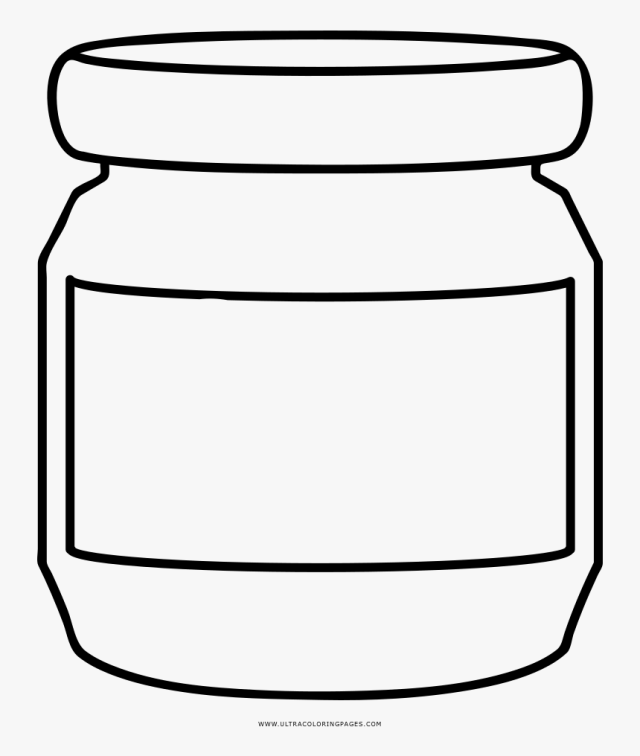 Empty Jar Coloring Page Ultra Coloring Pages - Honey Jar Coloring