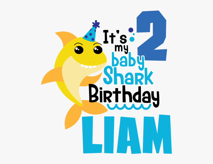 my birthday baby shark hd png download