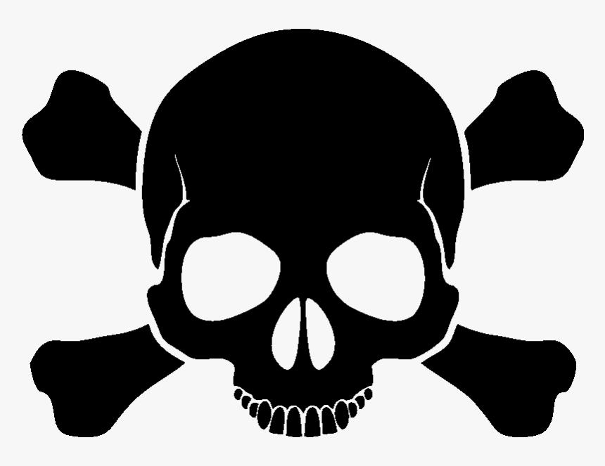 Skull Clipart Png Black Skull And Crossbones Transparent Png Kindpng