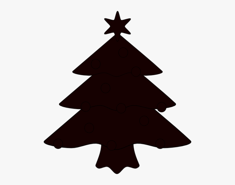 Crismas Tree Black And White Png