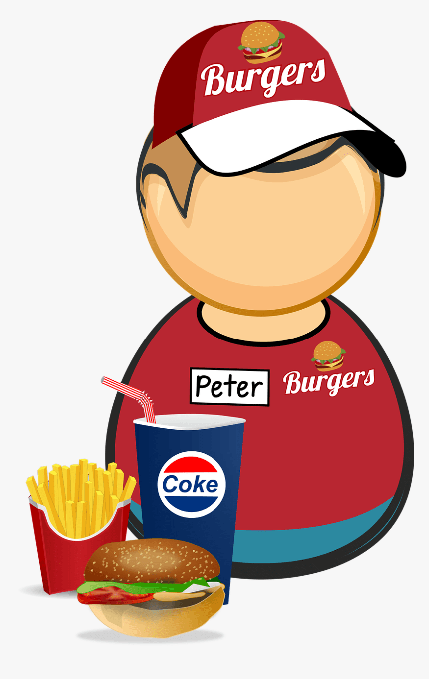 Fast Food Worker Clipart Fast Food Worker Png Transparent Png Kindpng