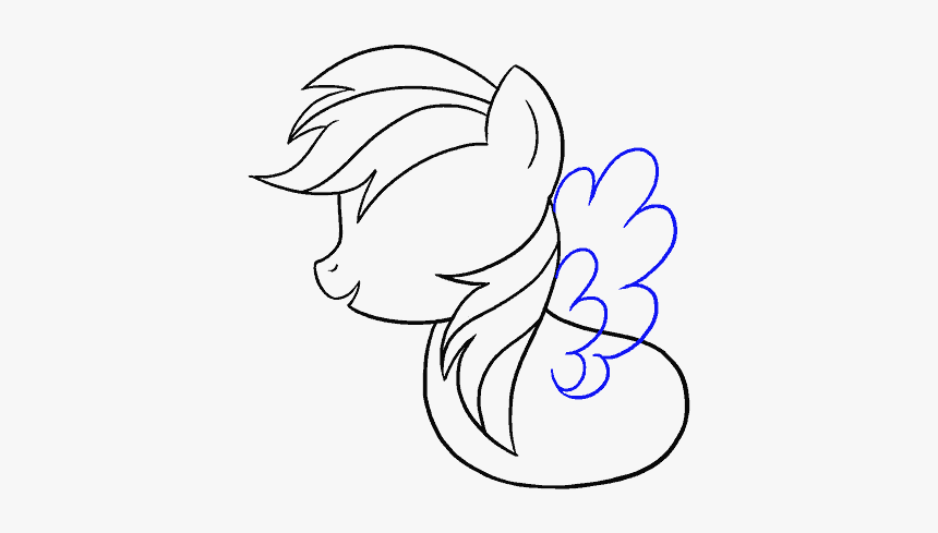 How To Draw My Little Pony Rainbow Dash My Little Pony Dessin Hd Png Download Kindpng