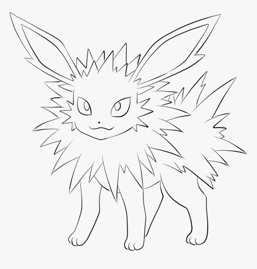 Pokemon Sylveon Coloring Pages Jolteon Pokemon Eevee Evolutions Coloring Pages Hd Png Download Kindpng