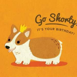 CARD BIRTHDAY CORGI