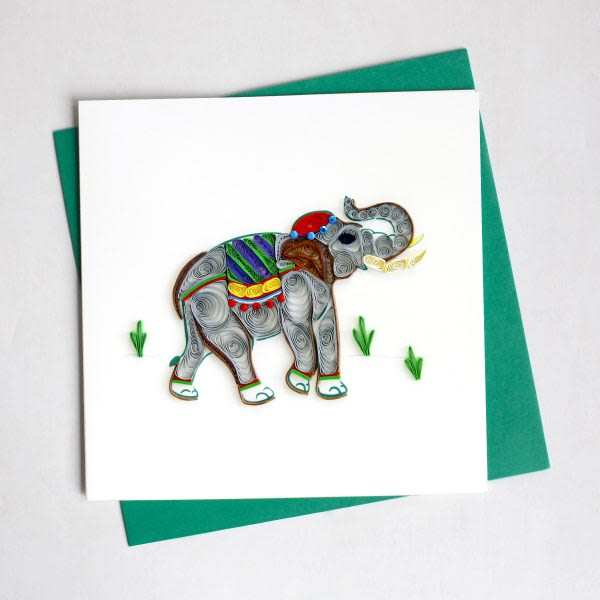 CARD QUILLING ELEPHANT