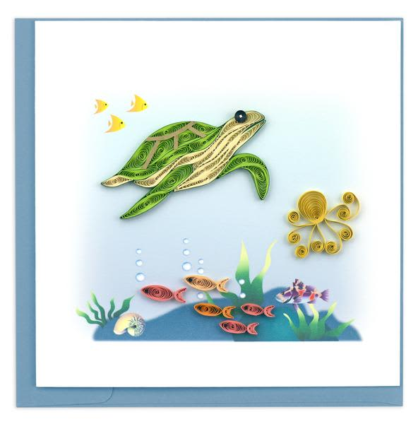 CARD QUILLING SEA TURTLE