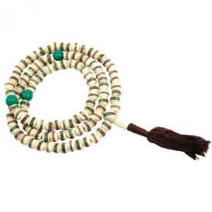 White Bone Mala Necklace