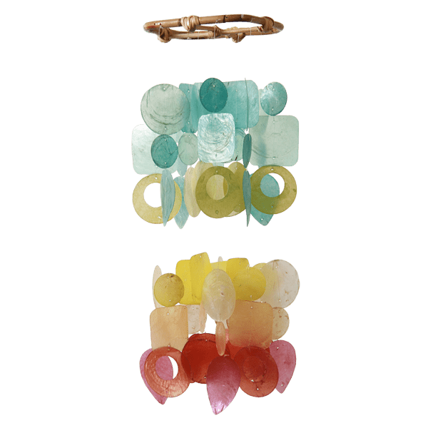 Small Rainbow Capiz Shell Wind Chime
