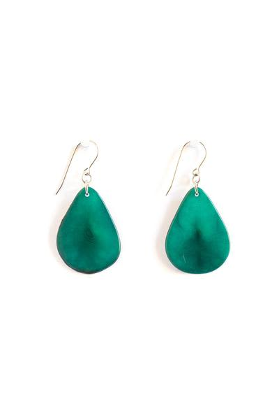 Teal Tagua Earrings