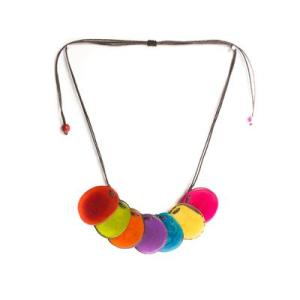 Rainbow Tagua Necklace