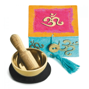 MINI SINGING BOWL WITH BOX – OM