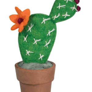 FELT CACTUS PRICKLY PEAR SMALL