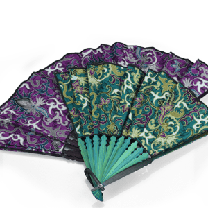 FOLDING FAN BATIK AND BAMBOO
