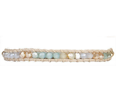 Stackable Beaded Crystal Bracelet – Blue