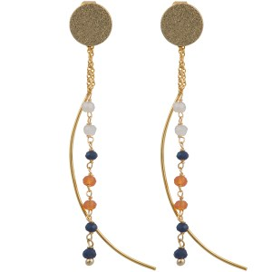 Moon Drop Earrings – Orange