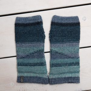WRIST WARMERS BLUE STRIPE