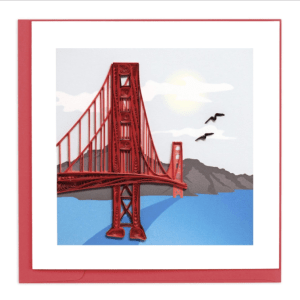 CARD QUILLING GOLDEN GATE BRIDGE