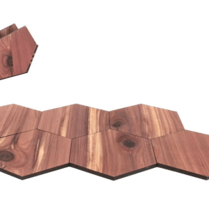 WOOD  COASTERS HEXAGON PLAIN