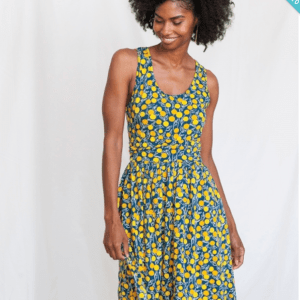 SLEEVELESS DRESS WITH YELLOW CIRCLES