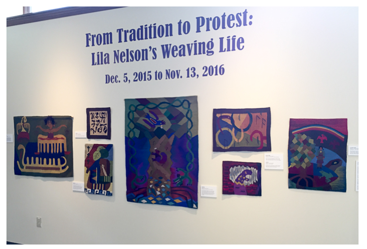 Lila Nelson's exhibit at Vesterheim
