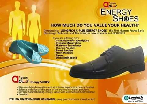 Longrich A PLUS ENERGY SHOES is also known as the FIRST HUMAN POWER BANK