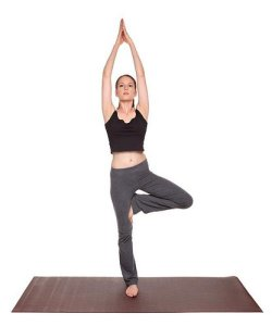 yoga poses - Tree Pose position (vrksasana)