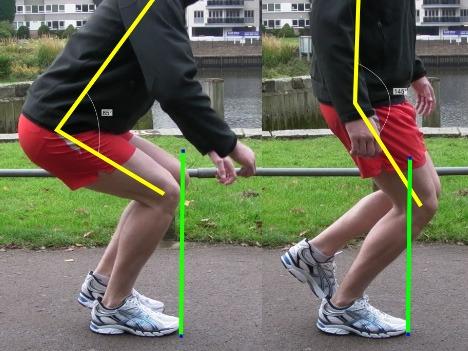 Good vs Bad Single Leg Squatting Form