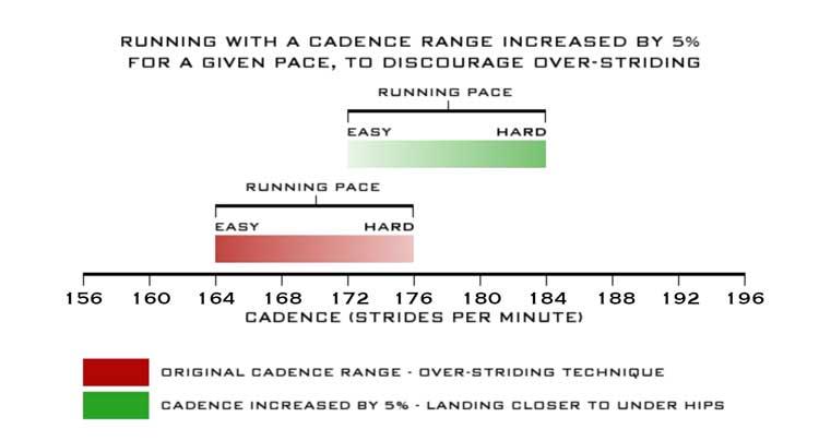 running cadence chart