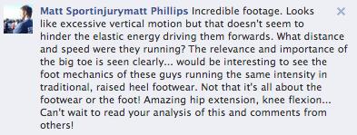 Matt Phillips Facebook Comment