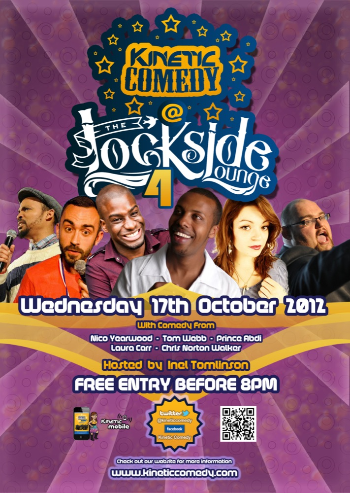 Lockside Laughs 4 – This Wednesday !!