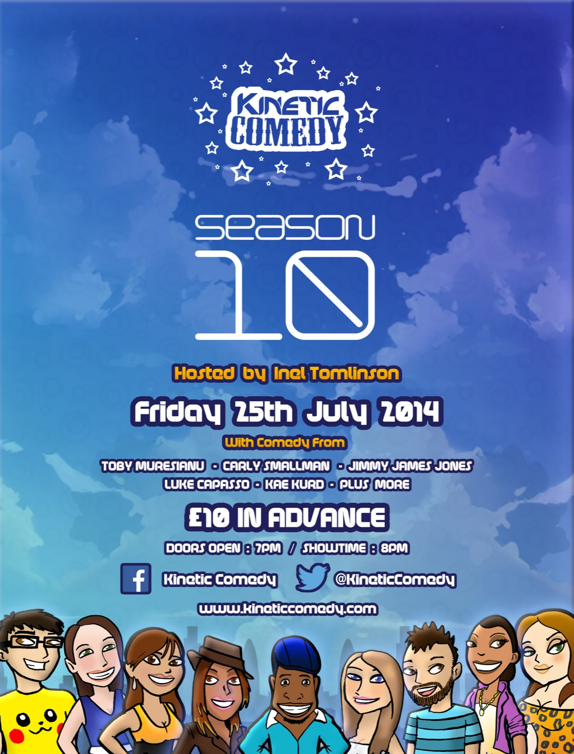 Kinetic Comedy 10.1 – Friday 25th July 2014