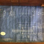 Steam engine blueprint, Fullerton, Hodgart & Barclay of Paisley, for Paton's of Johnstone.