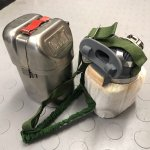Emergency breathing apparatus from a coal mine.