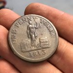 Phoenix Iron Works One Penny token, 1813.