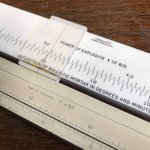 Ballistic mortar slide rules from Nobel's Explosives.
