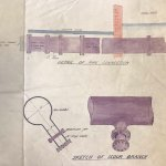 Plan of a water pipe at the Caldwell's paper mill in Inverkeithing.