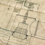 A beautiful drawing of a water turbine for Paton's Mill, Johnstone.