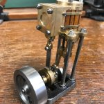 Small model steam engine, maker unknown.