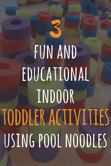 toddler activities, pool noodles