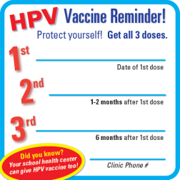 Order HPV Vaccine Reminder Magnets King County