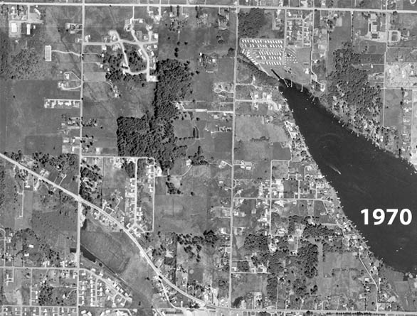 Lake Meridian in 1936 1970 1996  King County